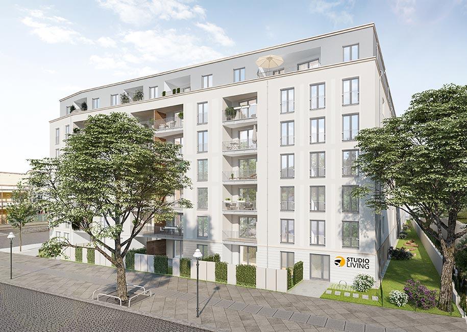 PROJECT_Studio_Living_Berlin_B1 PROJECT Immobilien schließt Verkauf von Neubauprojekt mit 182 Wohneinheiten in Berlin ab