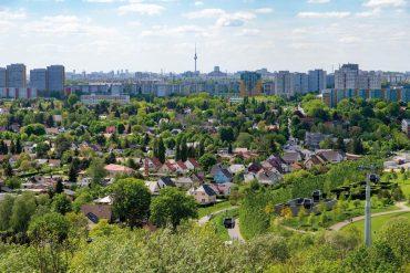 Panoramablick, Blick vom Wolkenhain auf dem Kienberg